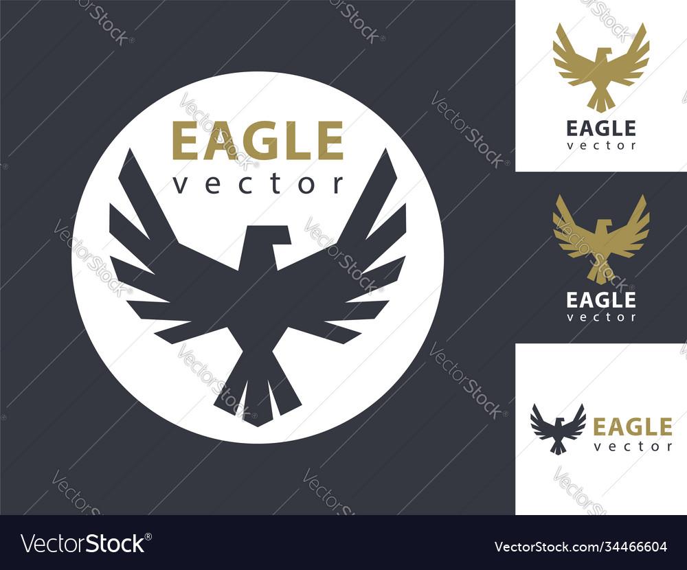 Eagle logo template eagles icon in a circle