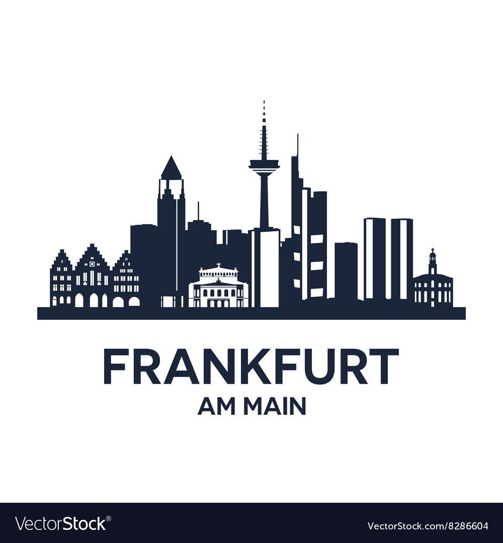 Frankfurt skyline emblem