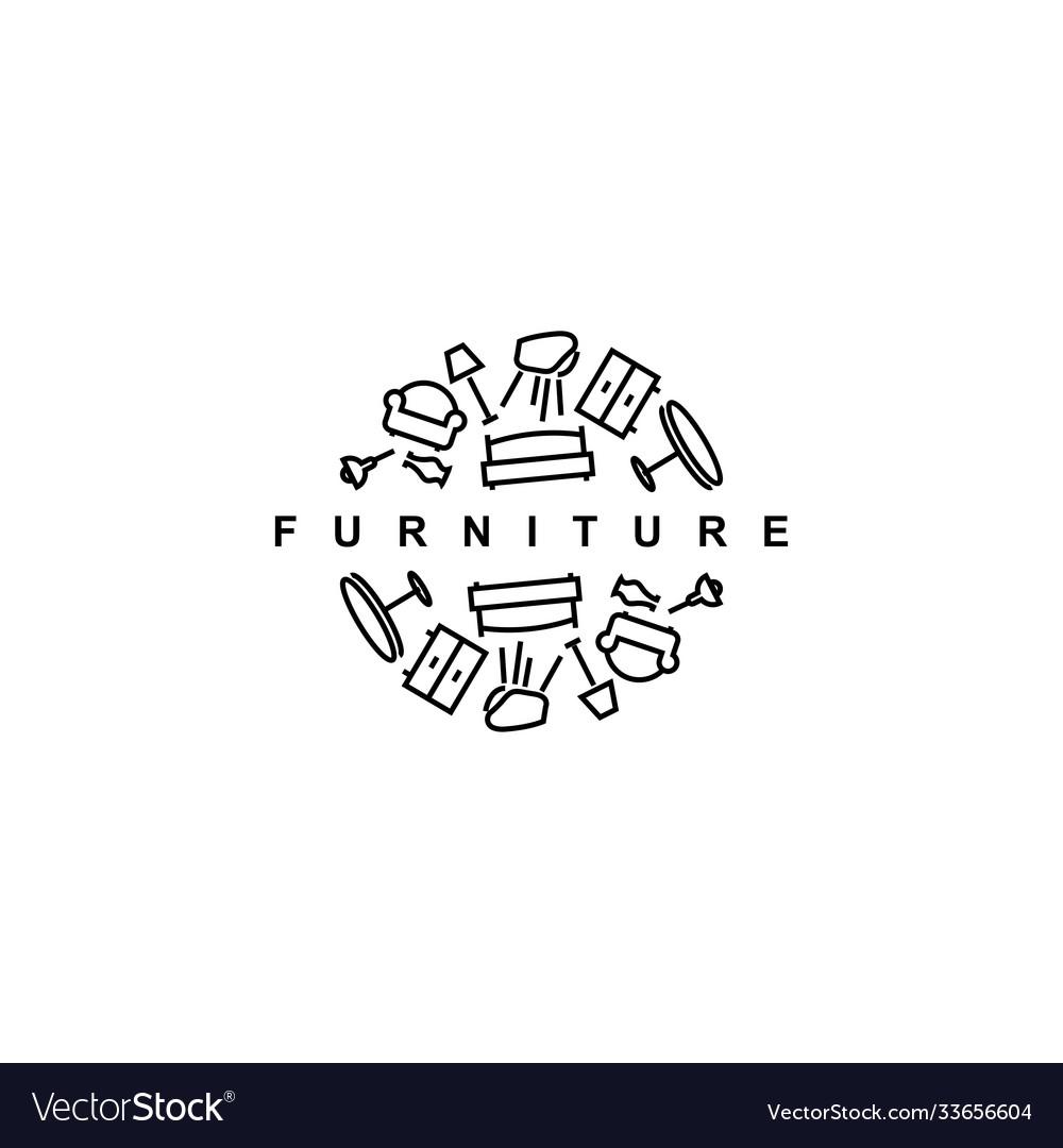 Furniture logo design templatehome furnish