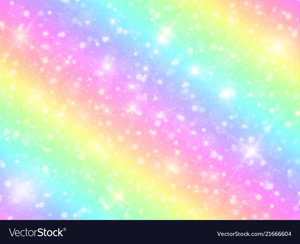 Galaxy rainbow background Royalty Free Vector Image