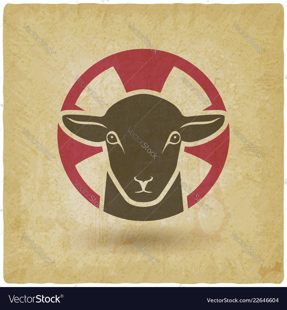 Lamb god vintage background