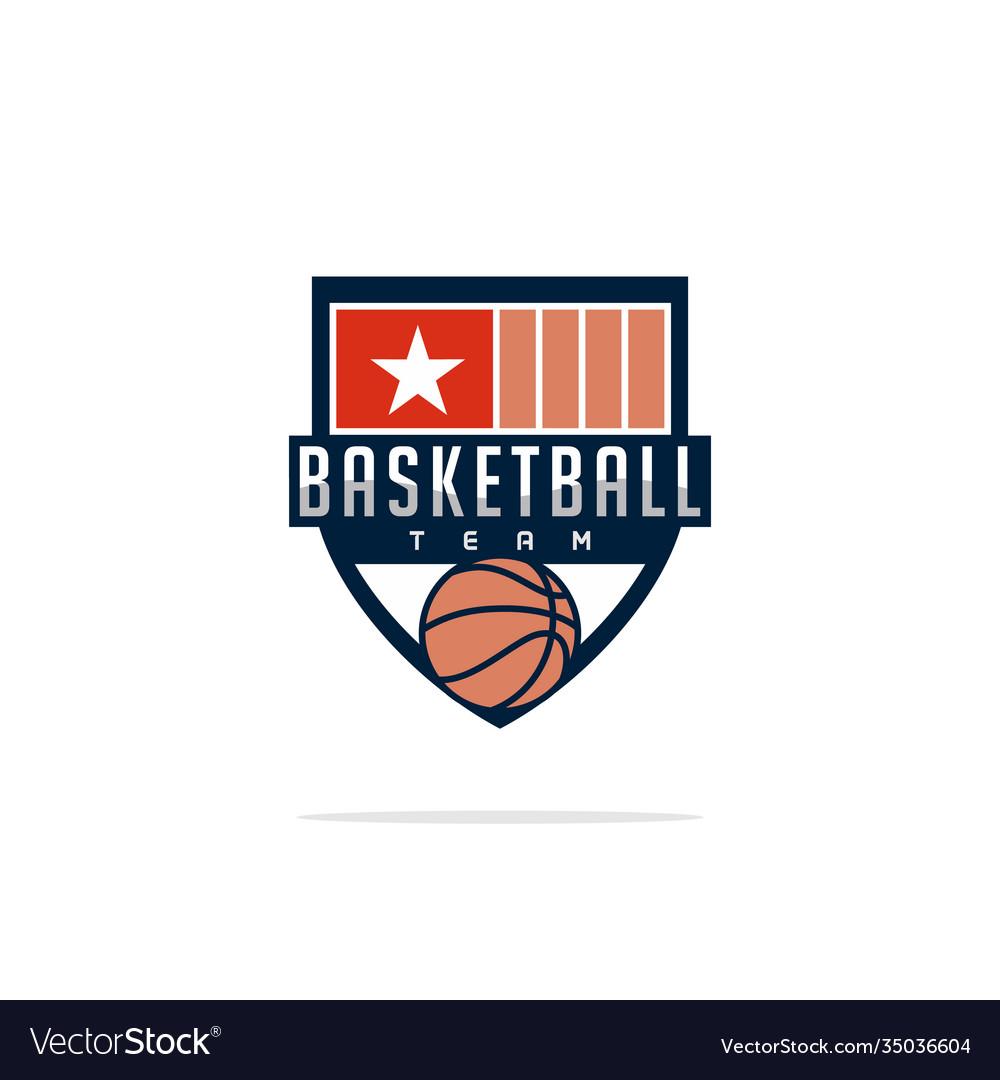 Modern professional logo for a basketball team