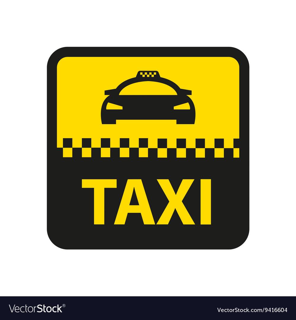 Taxi icon taxi car sign