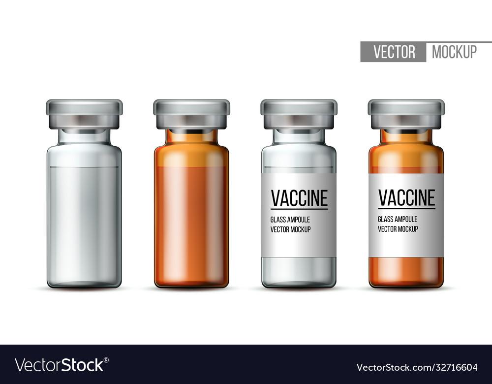 Template transparent glass medical vial
