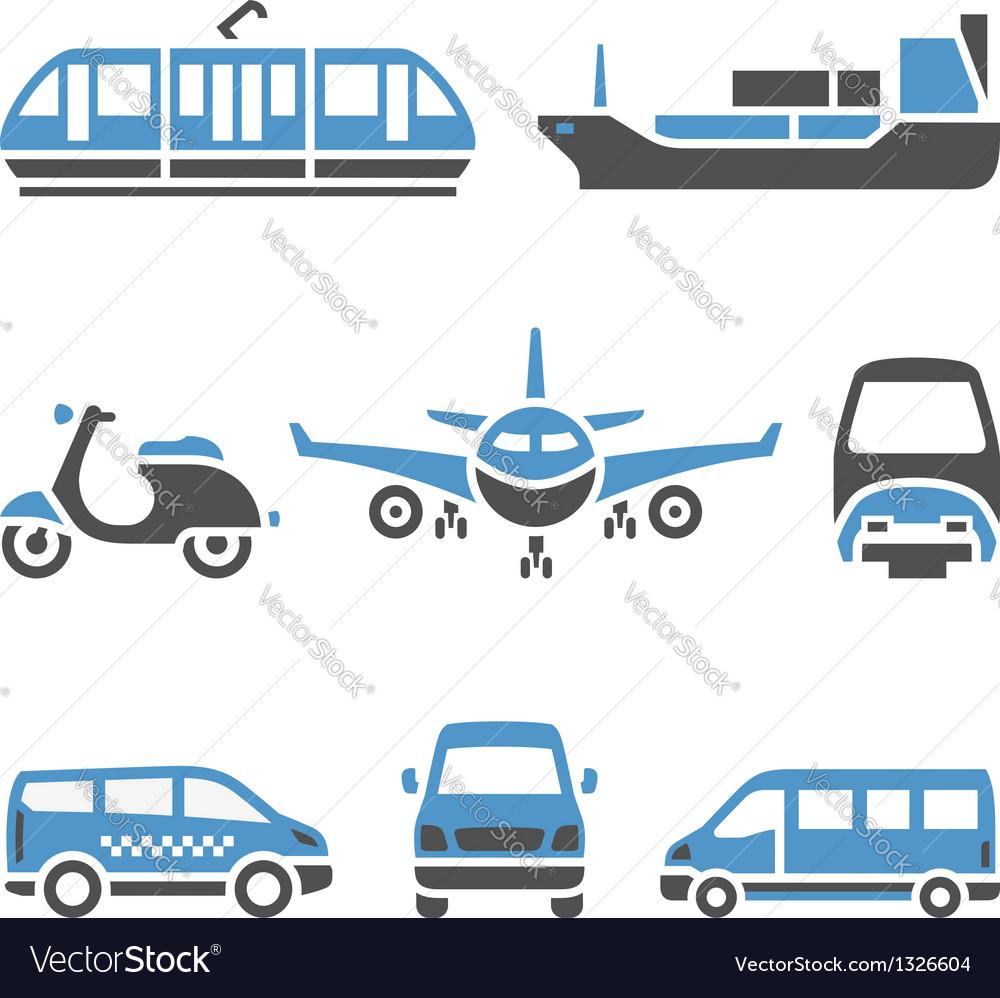 Transport Icons - A set of ninth