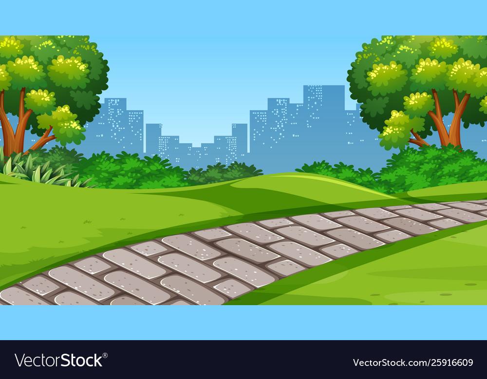 A simple park scene