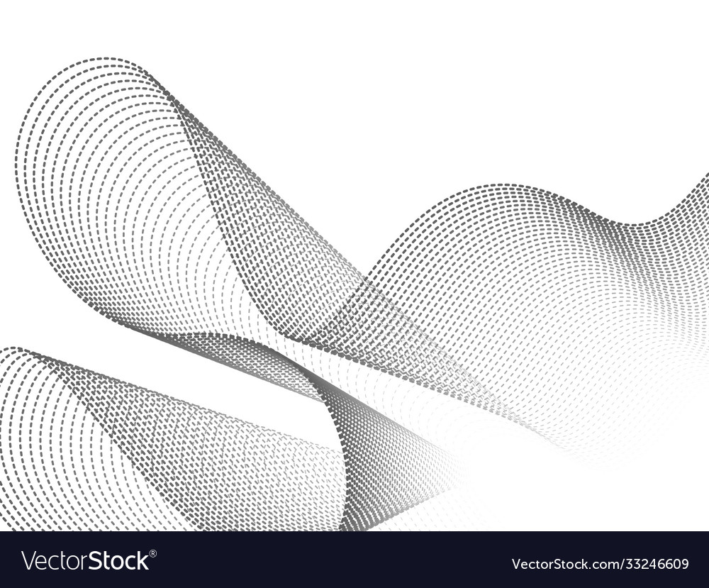 Dynamic wave particles black and white abstract