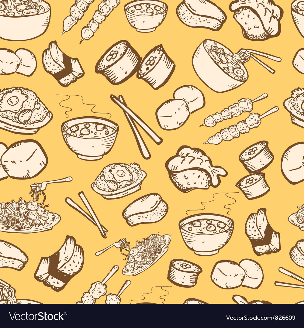 Food Seamless Pattern Royalty Free Vector Image