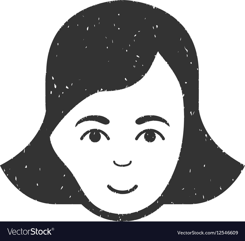 Lady Face Grainy Texture Icon