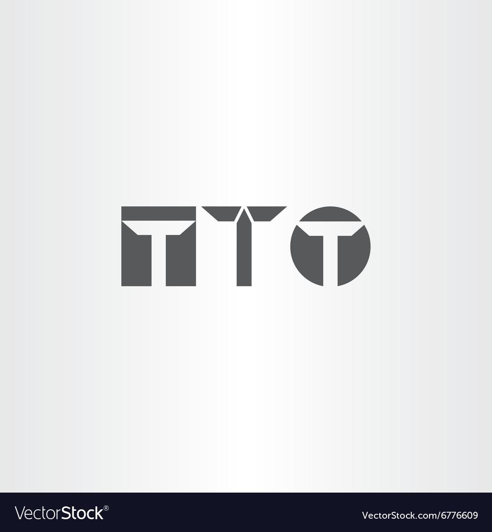 Letter t black icon set element