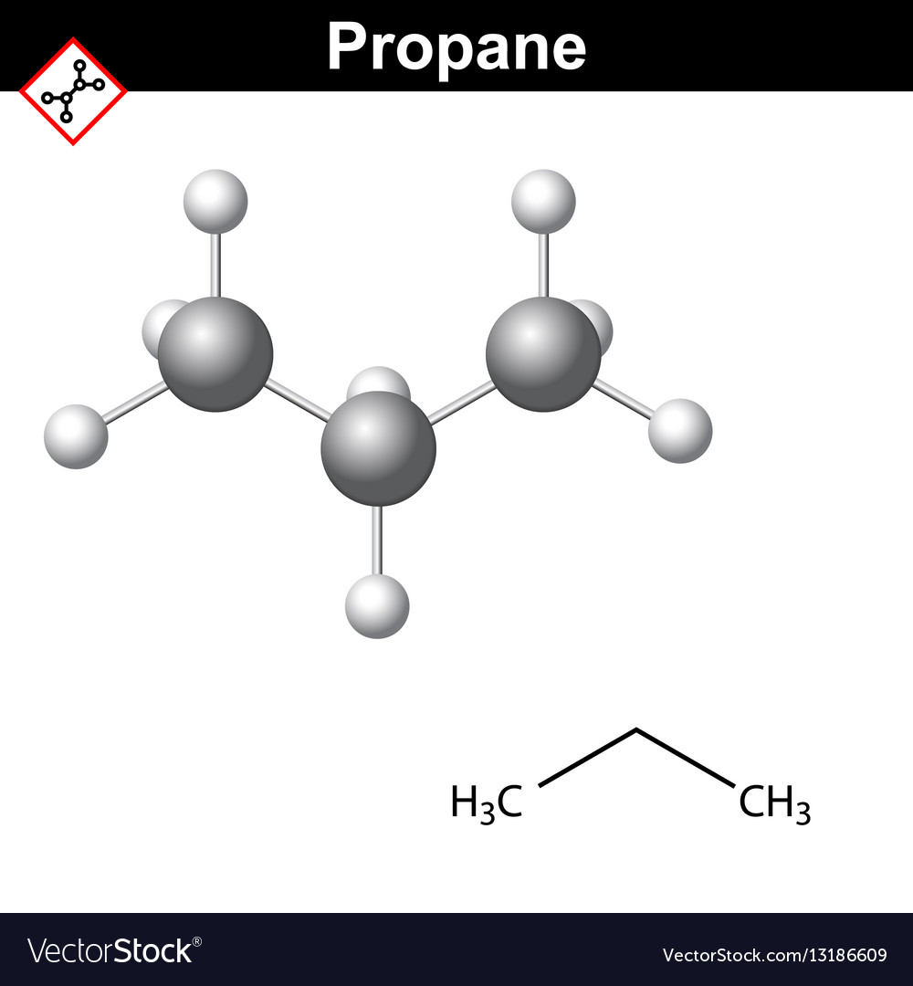 Propane Chemical Natural Gas Component Royalty Free Vector