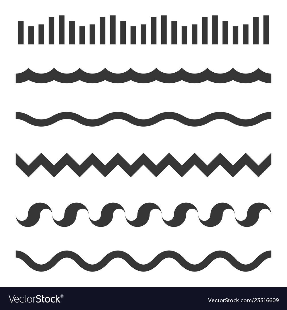 Seamless wave pattern set template
