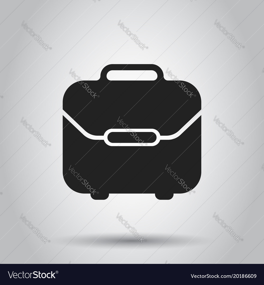 Suitcase box icon on isolated background business