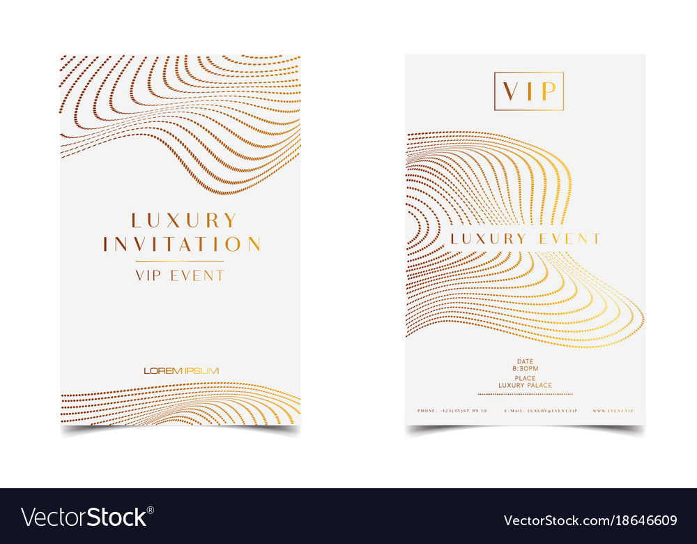 White gold luxury invitation for vip event vector image stopboris Gallery