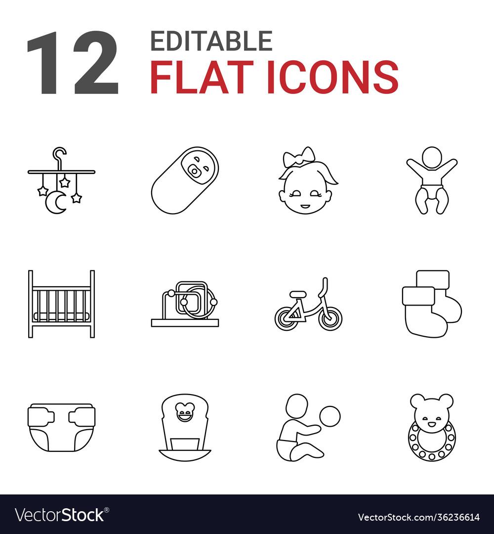 12 newborn icons