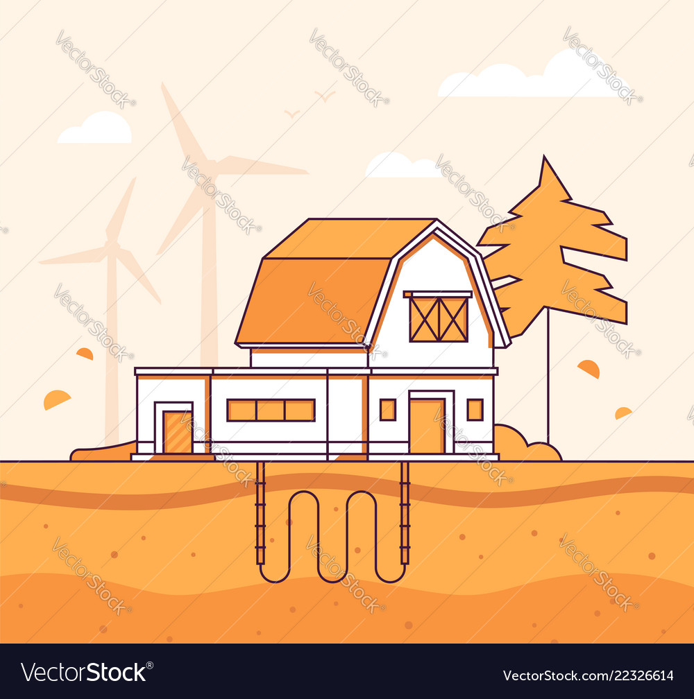 Barn with sewage system - modern line design style