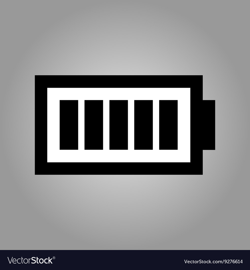 Battery Level Symbol Icon Isolated Royalty Free Vector