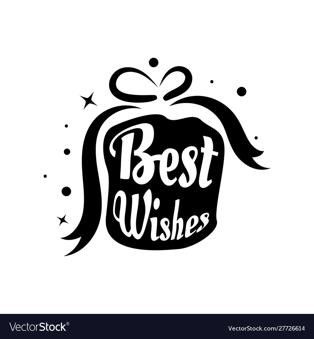 Best wishes card lettering beautiful greeting