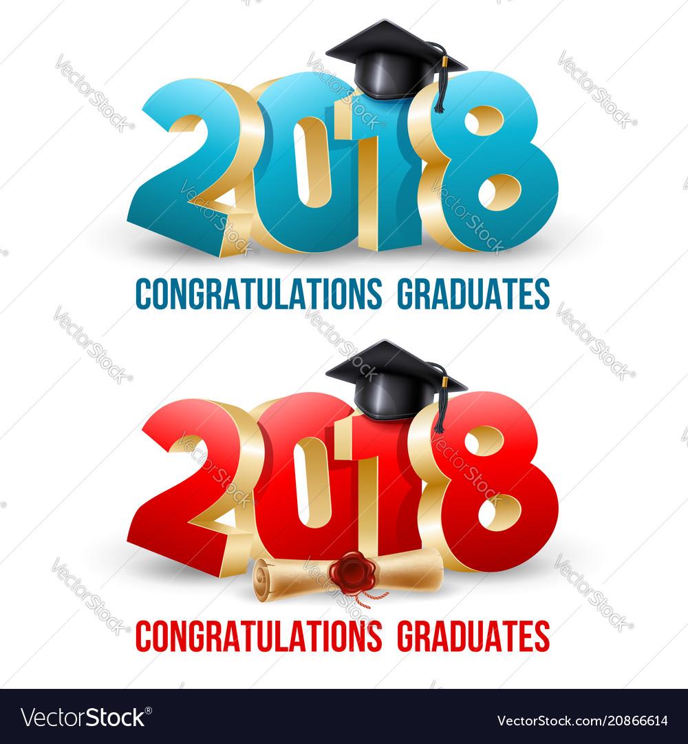 Congratulations graduates vector image