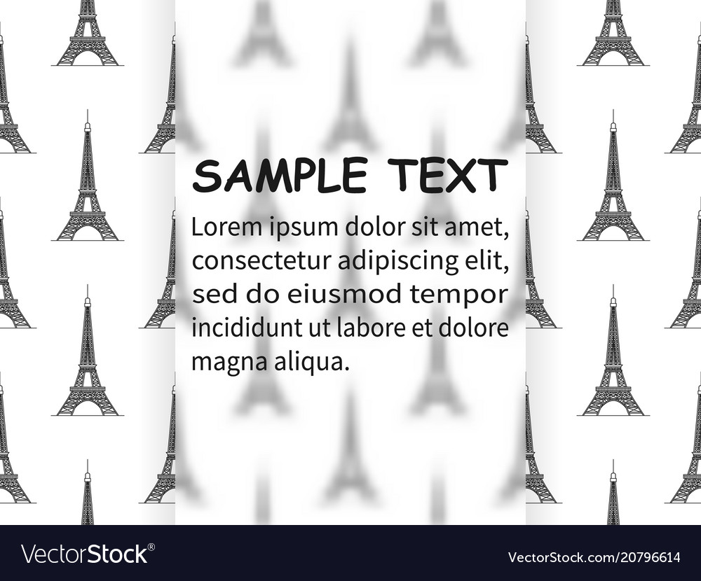 Design template with eiffel towers royalty free vector image design template with eiffel towers vector image maxwellsz