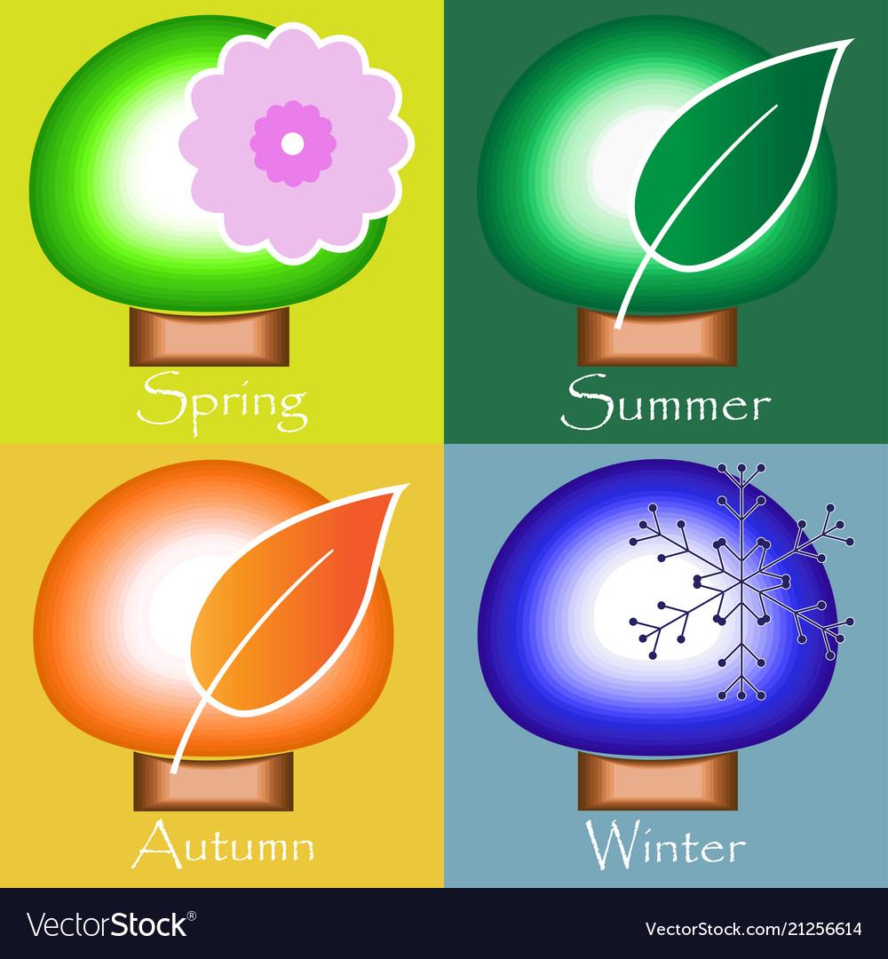 Four seasons - spring summer autumn winter