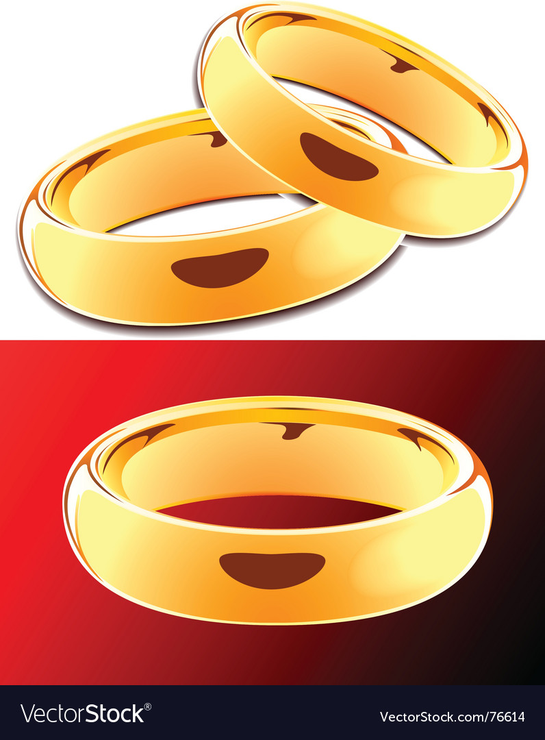 Golden rings vector image