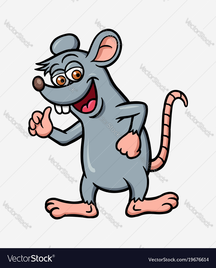 Mouse or rat cartoon character