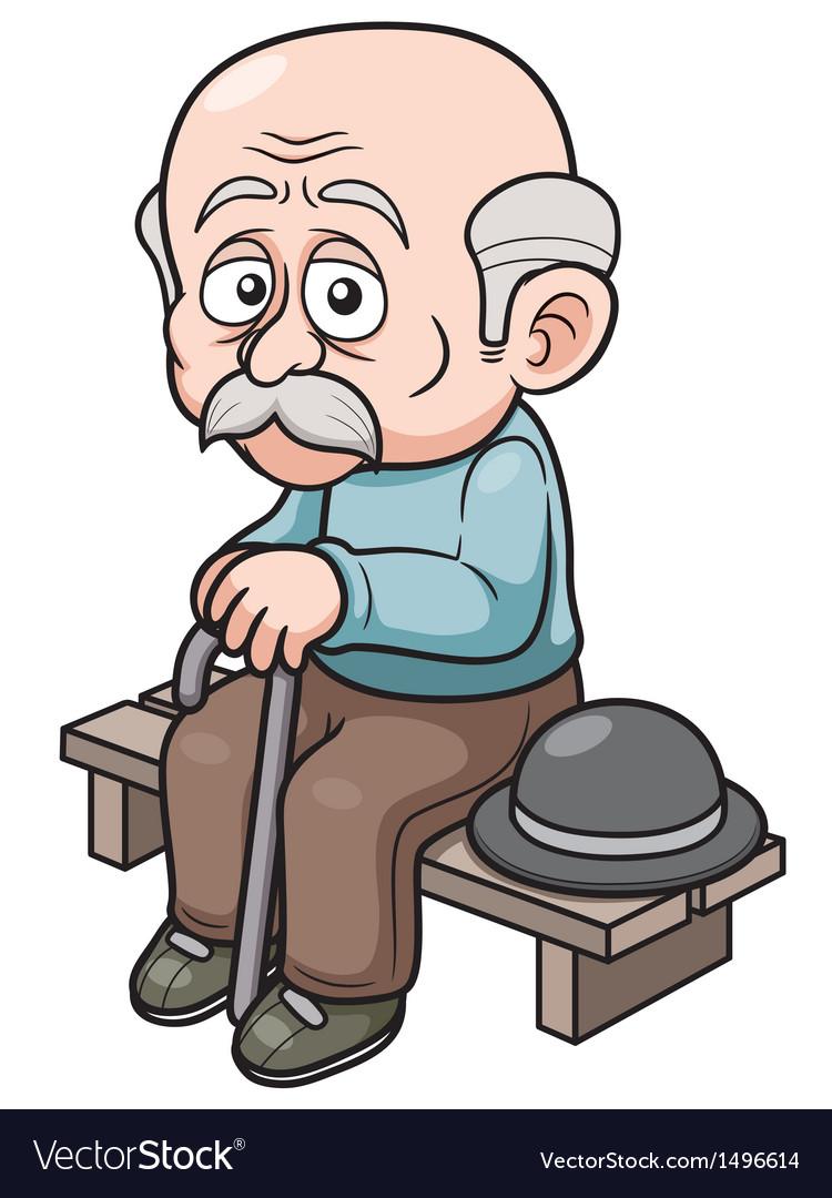 old man royalty free vector image vectorstock rh vectorstock com old person cartoon character old person cartoon image