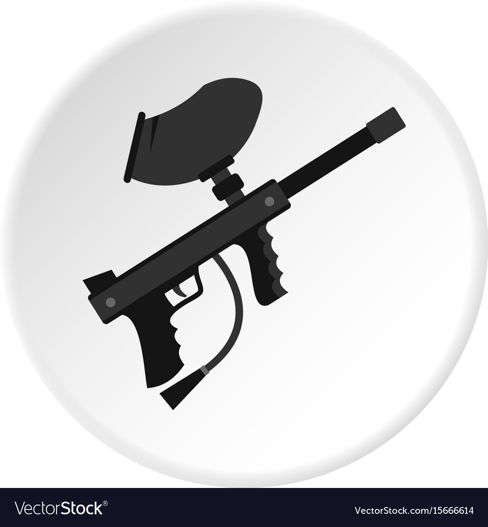 Paintball marker gun icon circle