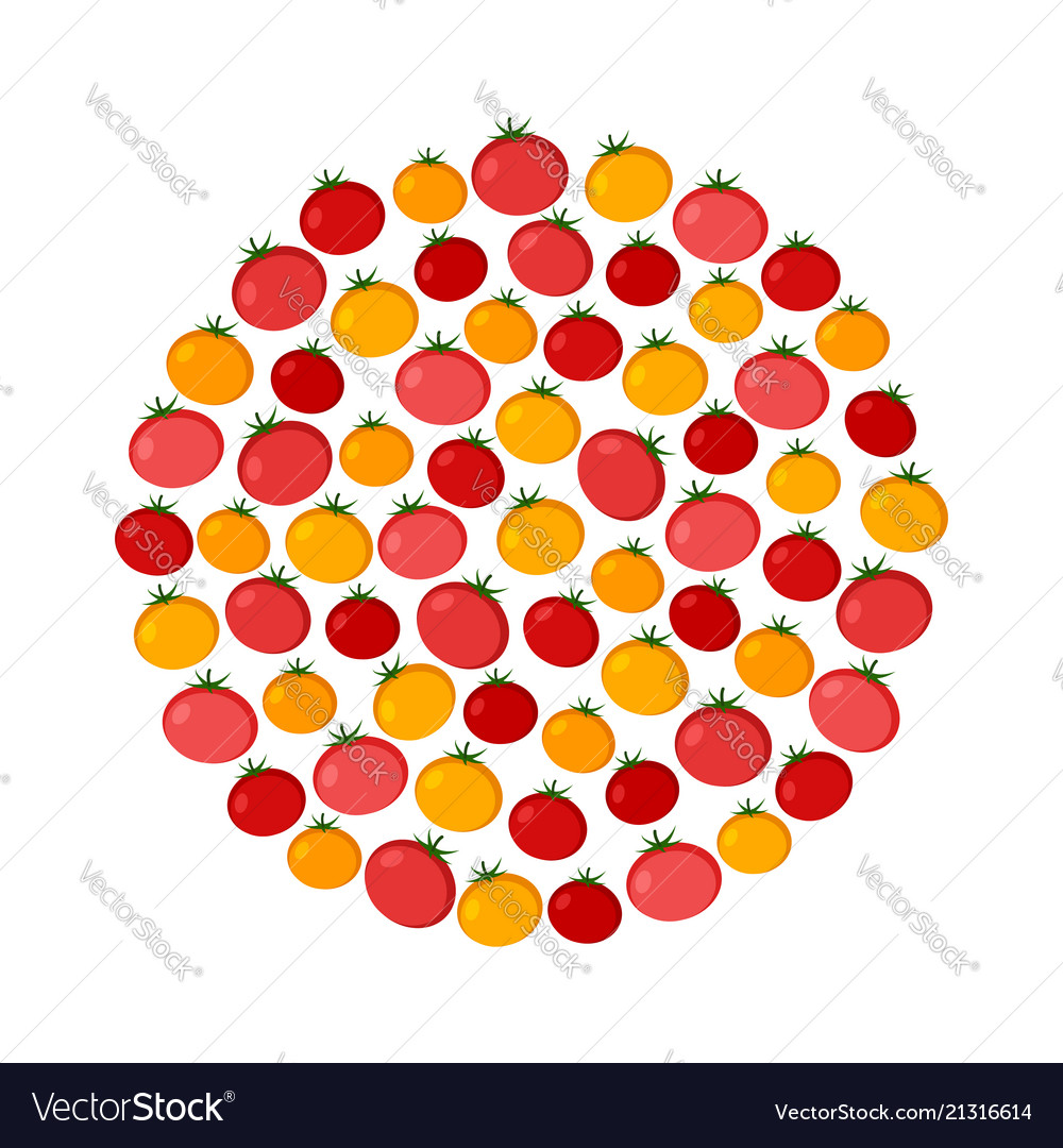 Tomato circle background organic food icons