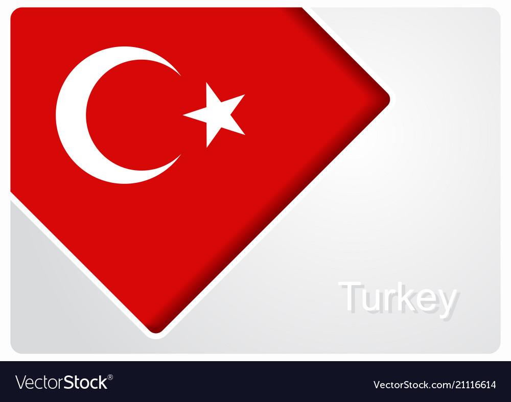 Turkish flag design background