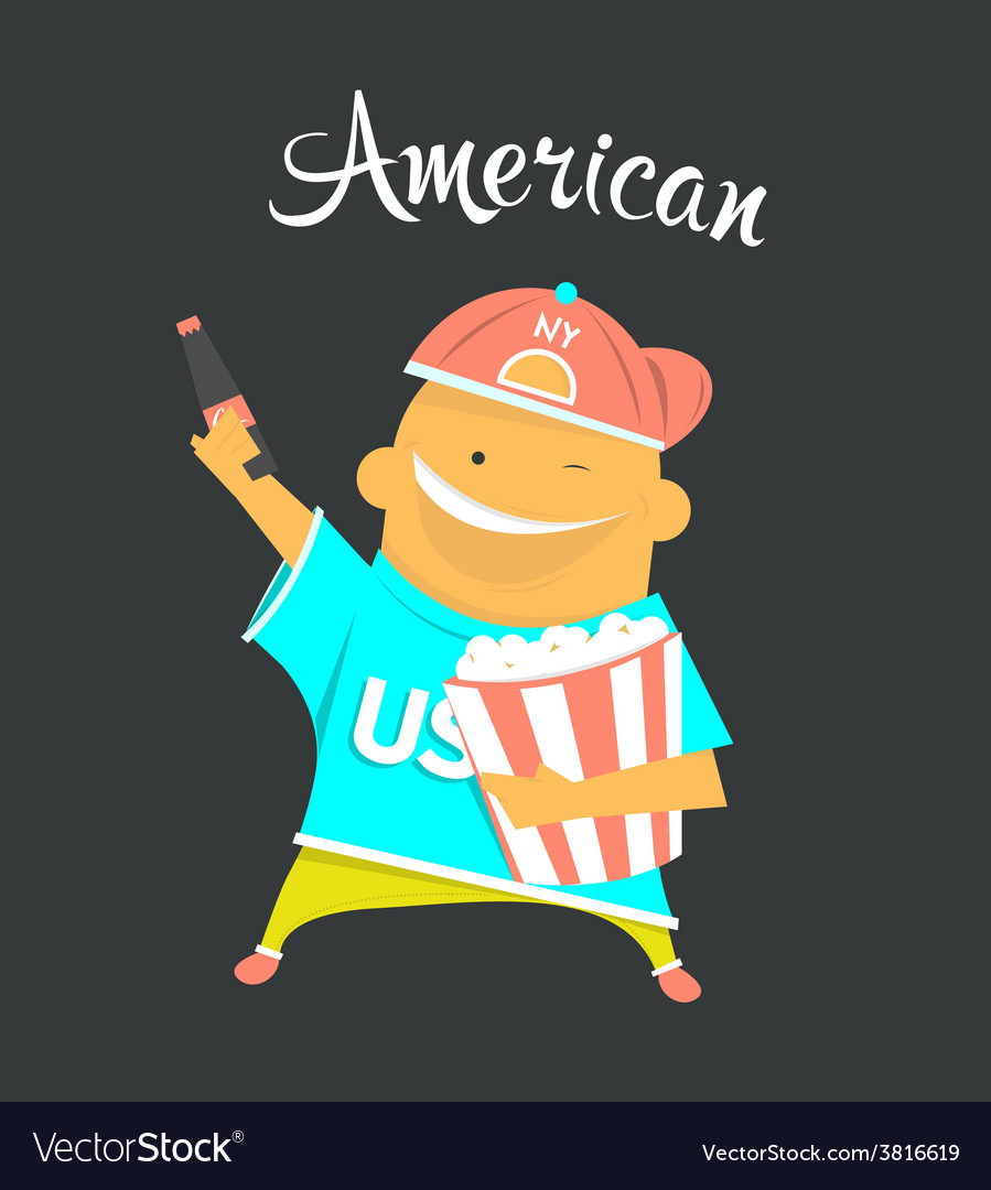 American or yankee man character citizen of the