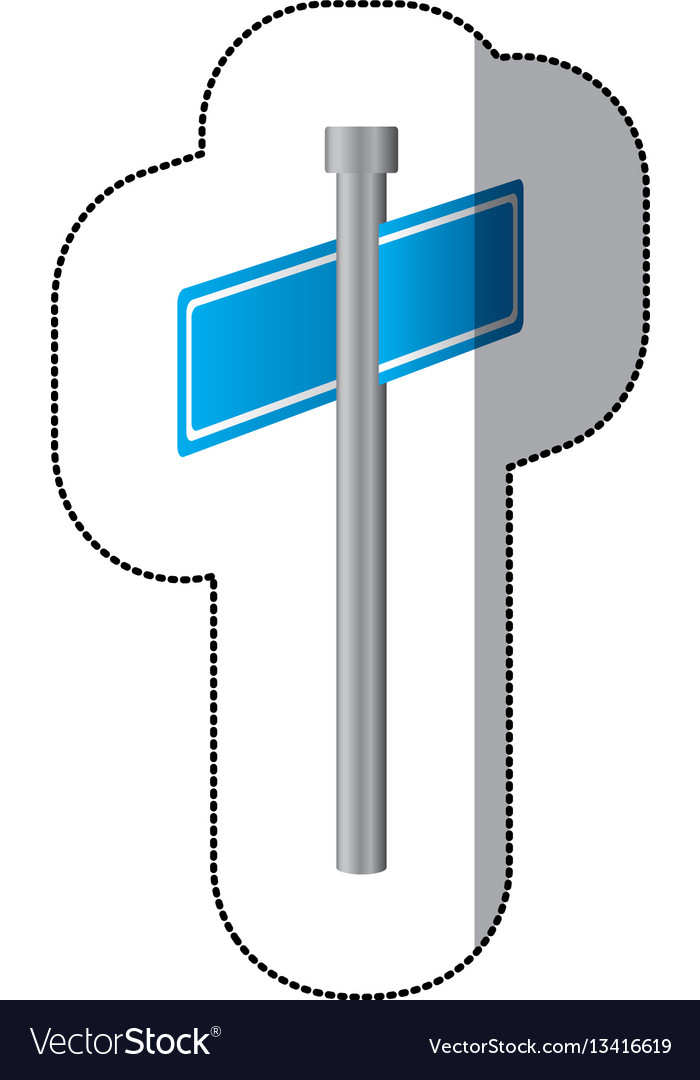 Blue blank metal sign boards icon