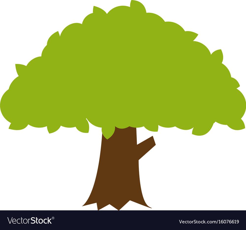 flat color banyan tree icon royalty free vector image rh vectorstock com tree vector free tree vector plan