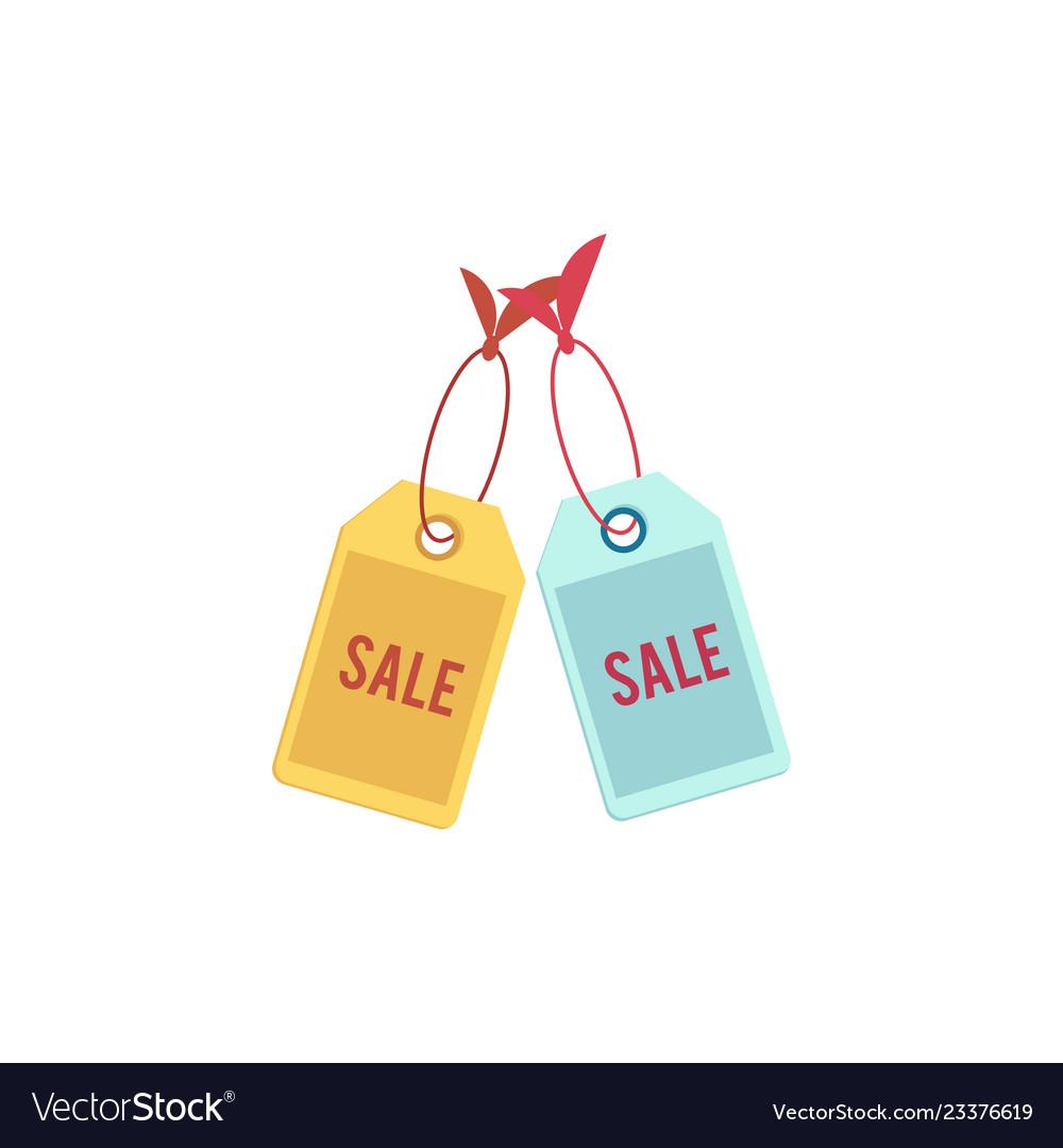 Flat orange sale price tag icon
