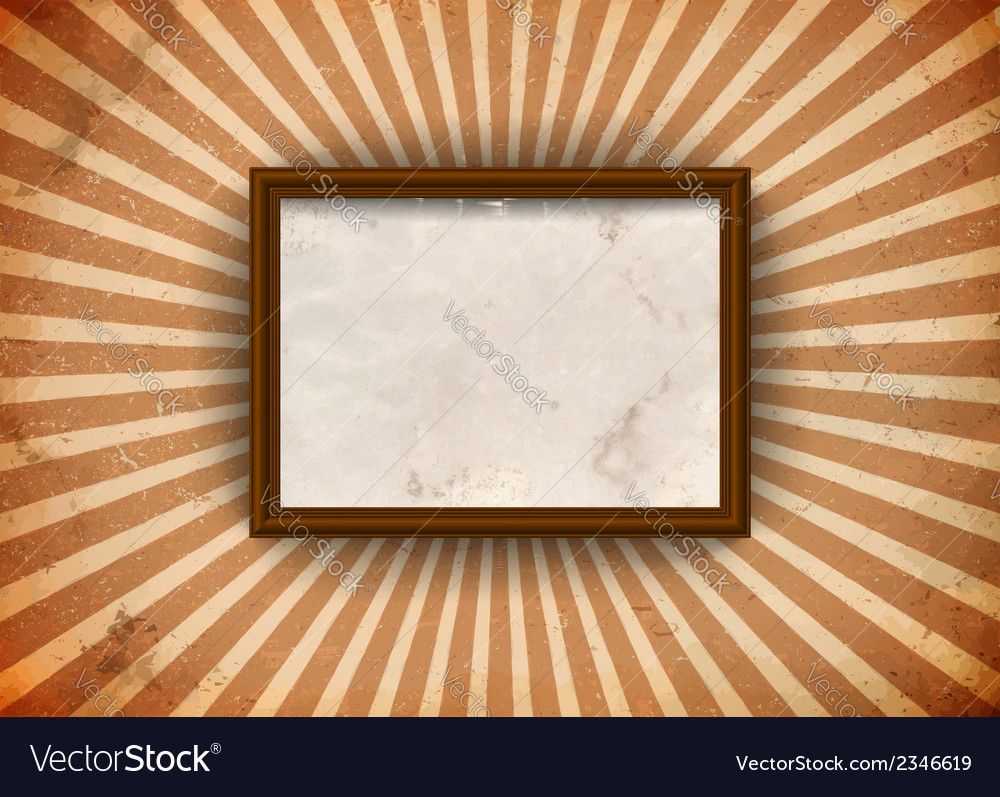 Grungy frame with rays