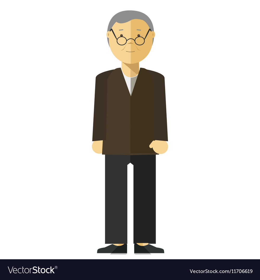 Old man or grandfather vector image