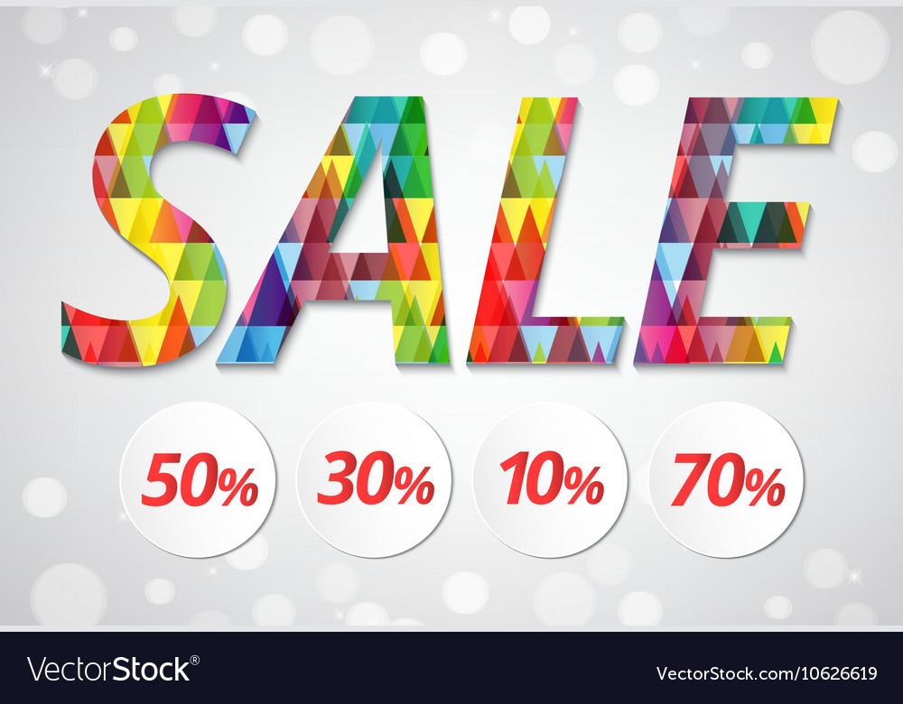 Sale banner polygon pattern style