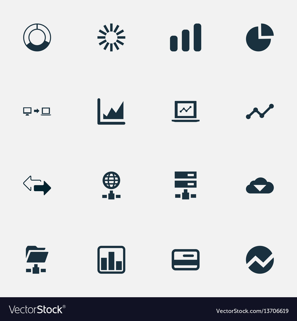 Set of simple analysis icons