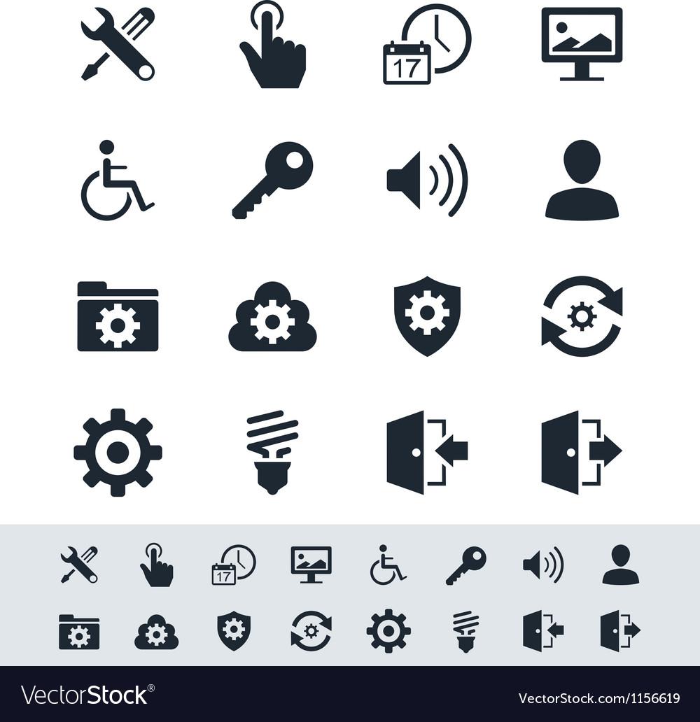 Setting icon set simplicity theme