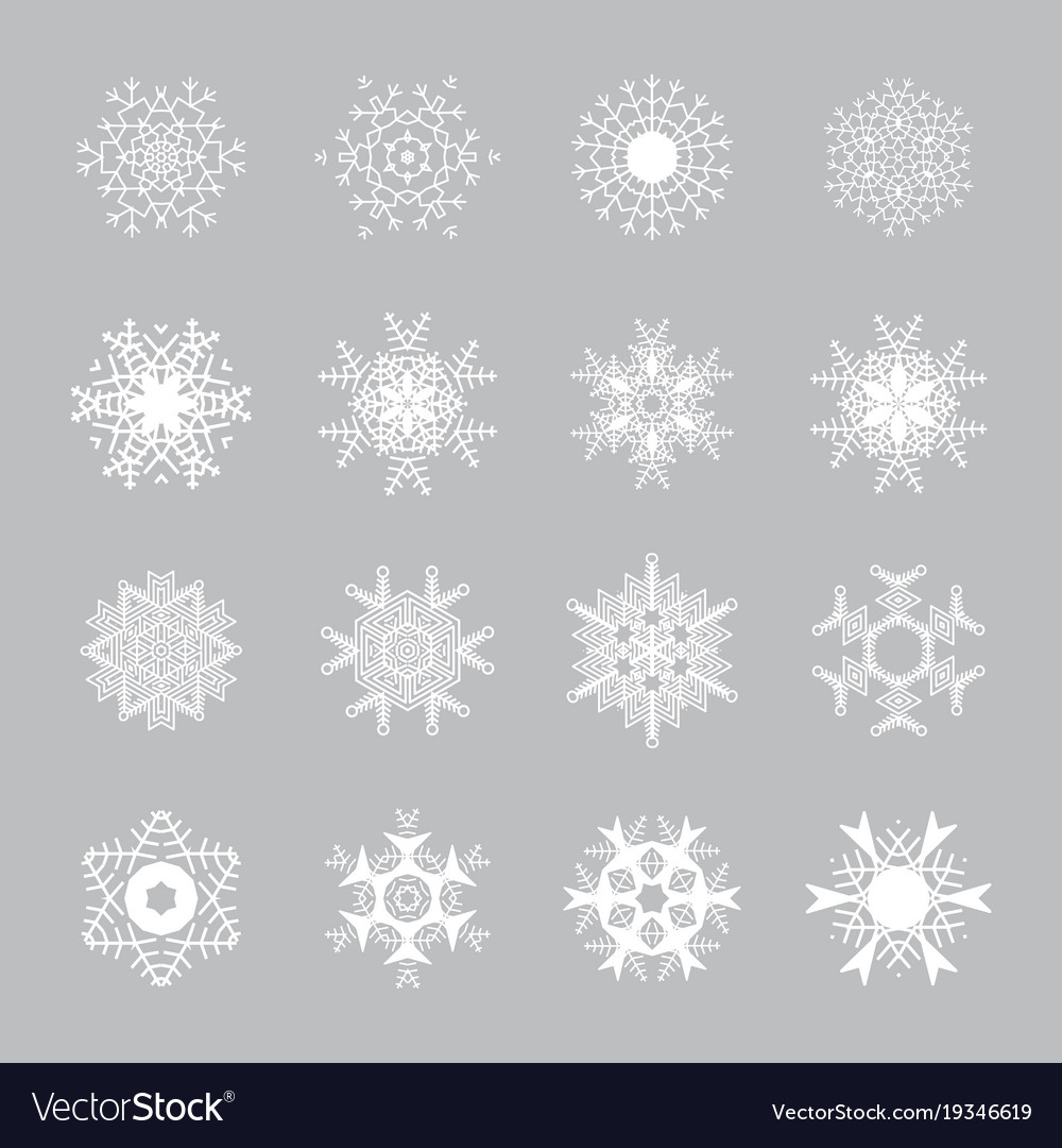 Snowflake Icons Snow Symbol Royalty Free Vector Image