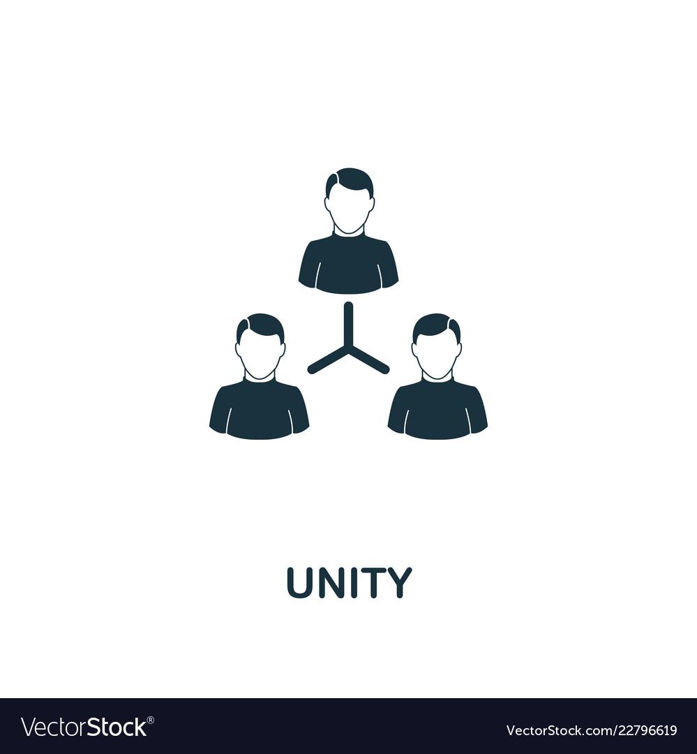 Unity icon premium style design from teamwork