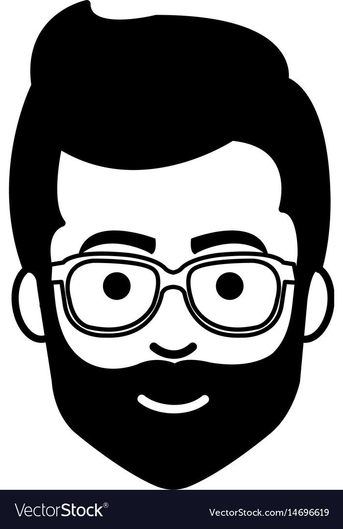 young man casual avatar with glasses royalty free vector