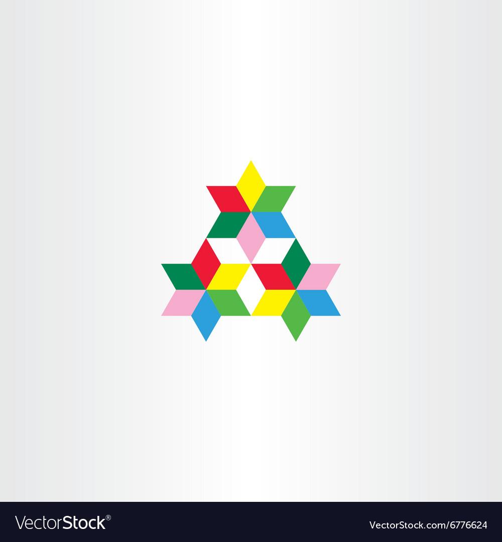 Colorful triangle geometric design element