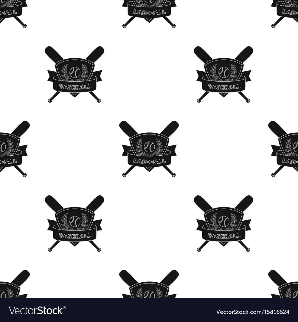 Emblem baseball single icon in black style