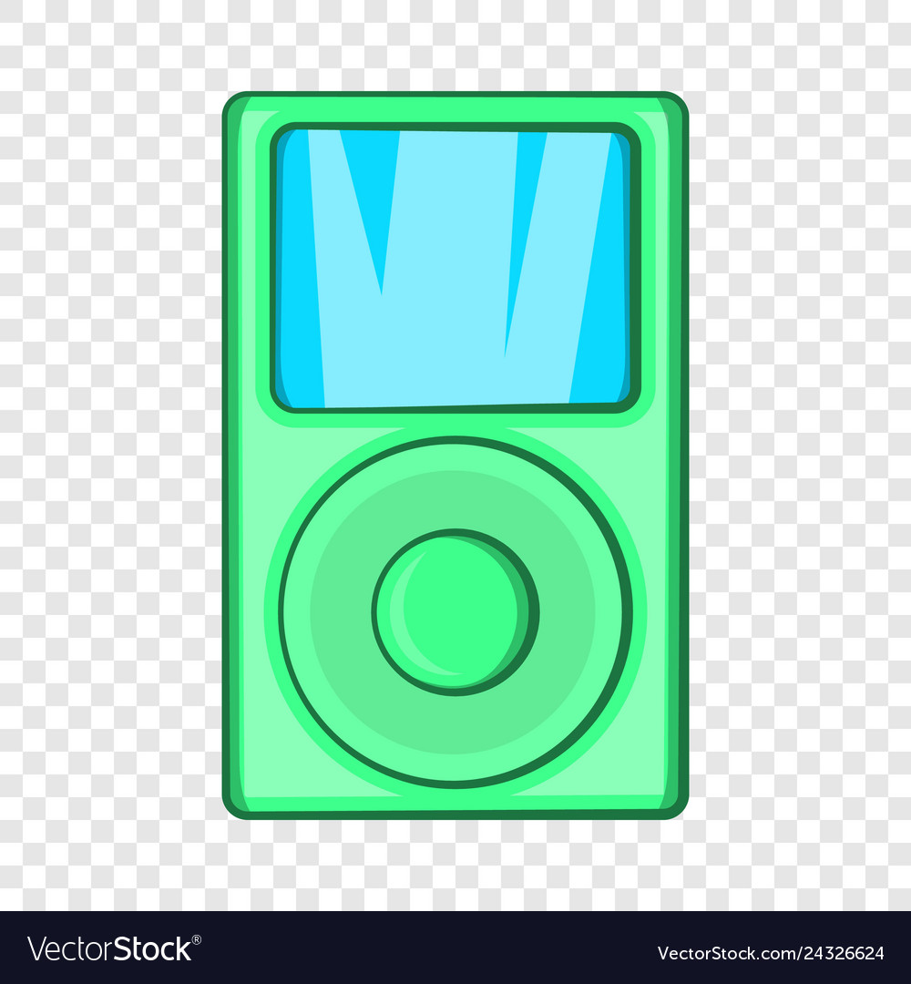 Mp3 Player Icon In Cartoon Style Royalty Free Vector Image