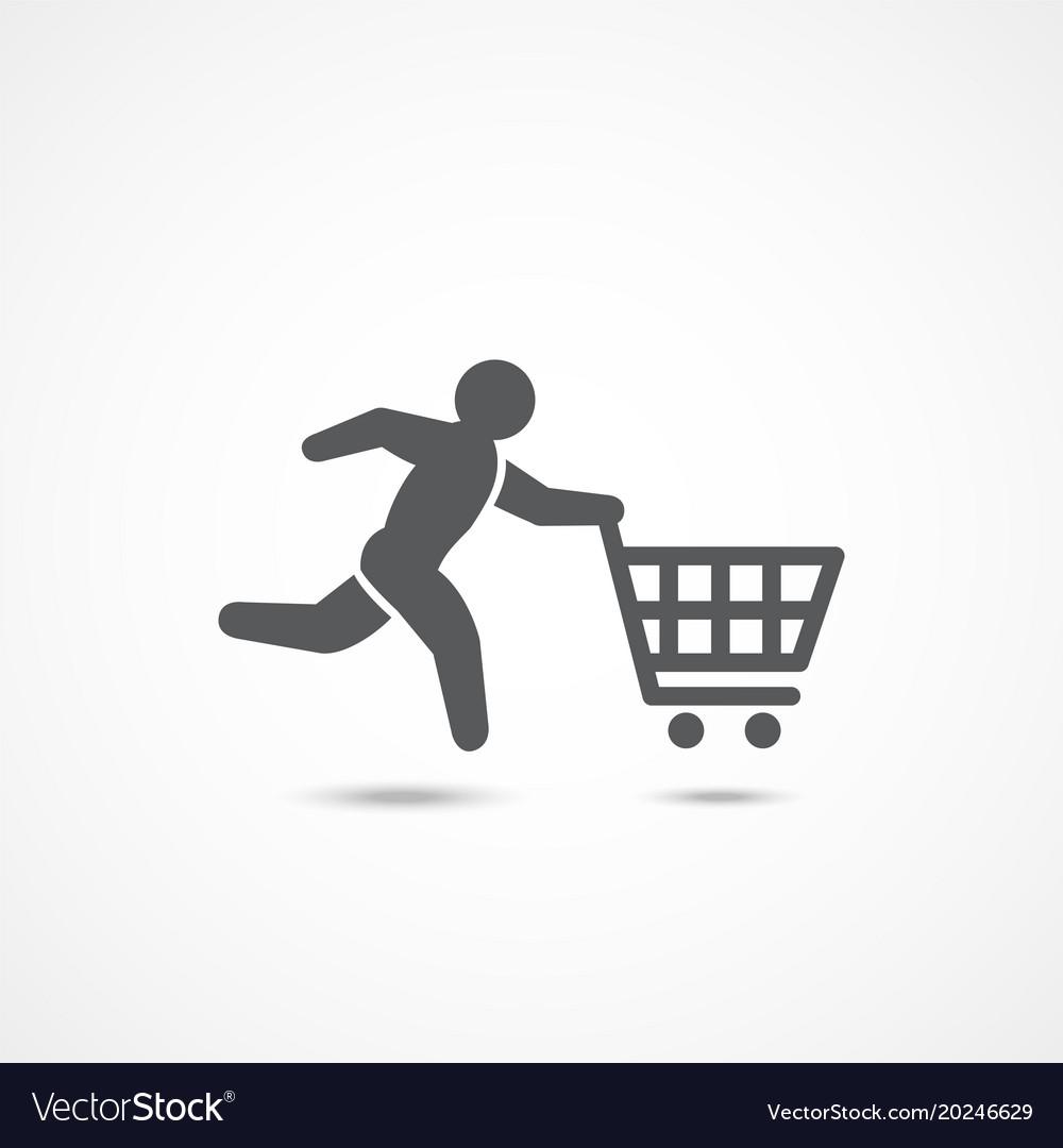 Buyer icon on white