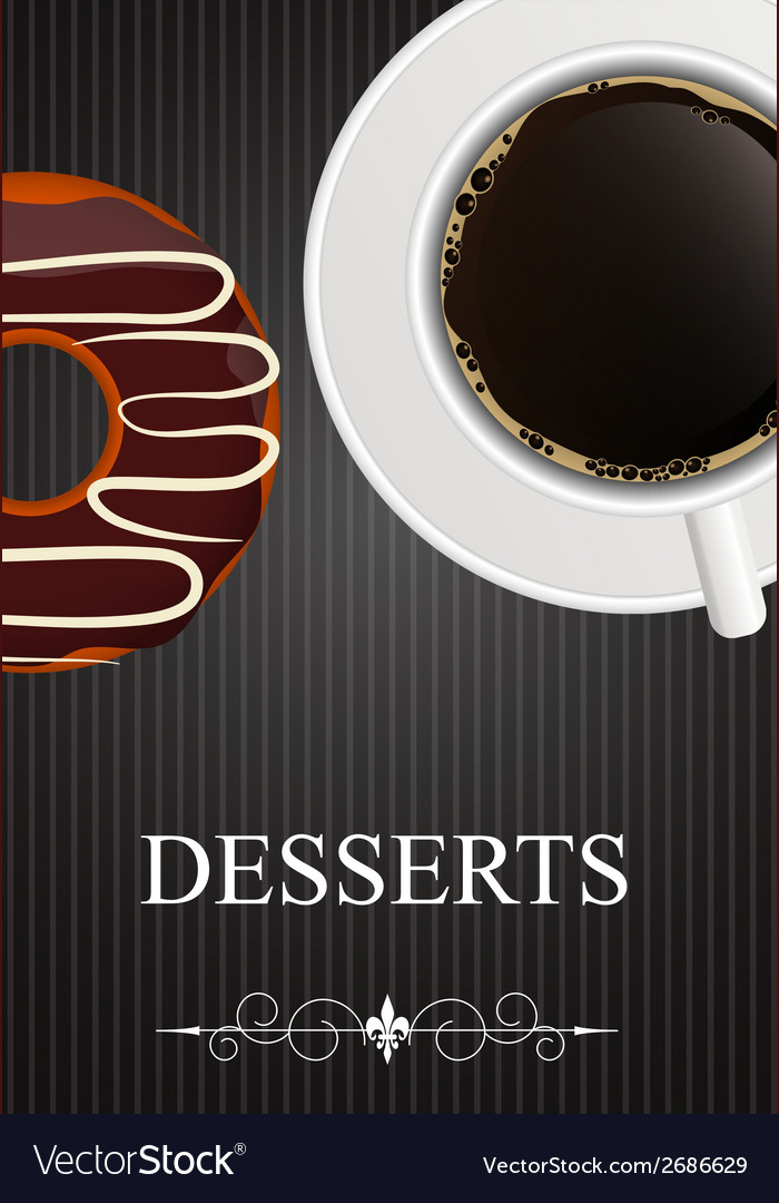 Dessert Menu with Coffee and Donut