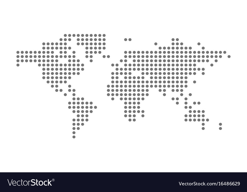 Grey political world map isolated