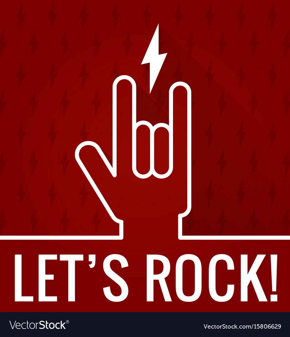 Lets rock vector image